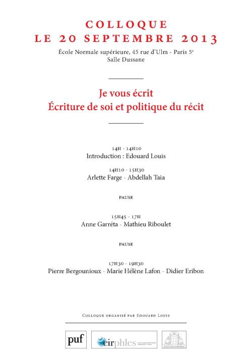 Colloque ENS